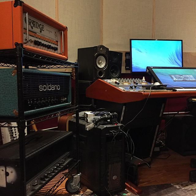 Today marks the first guitar tracking session in Bricktop East!