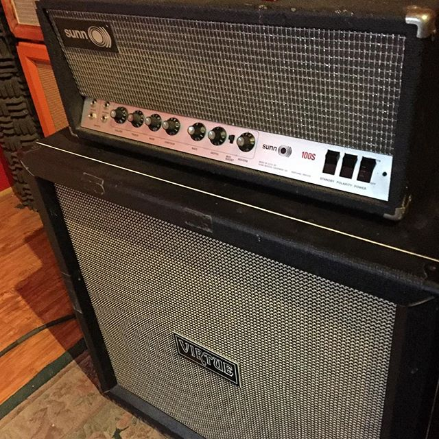 New gear day!  Welcome this nice 100S to our @sunnamplifiers collection! #amplifierworship