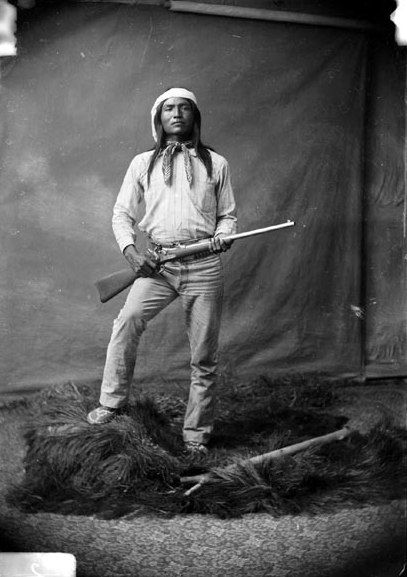 Haskay-bay-nay-ntayl (c. 1860 - c. 1894), better known as the Apache Kid, was a White Mountain Apache scout, and later a renegade, active in the American states of Arizona and New Mexico