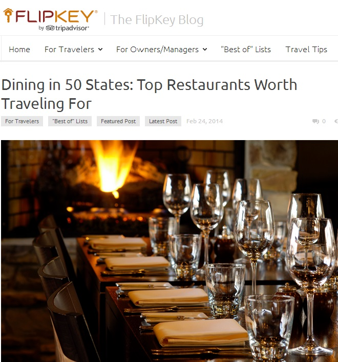 Dining in 50 States: Top Restaurants Worth Traveling For Feb 24, 2014