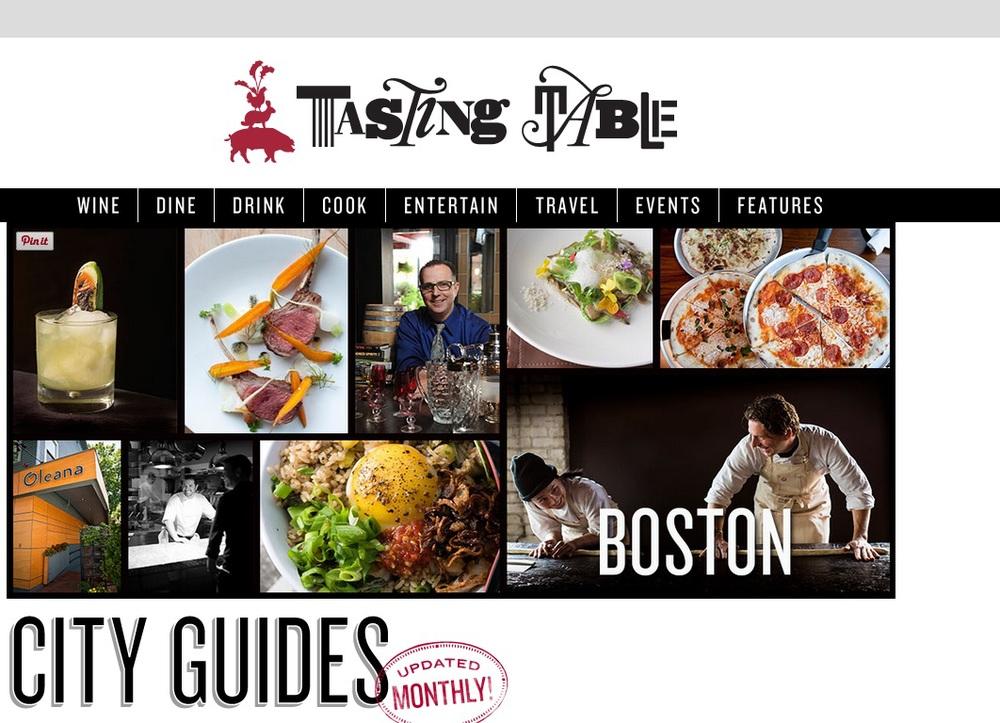 TASTING TABLE City Guide: Boston