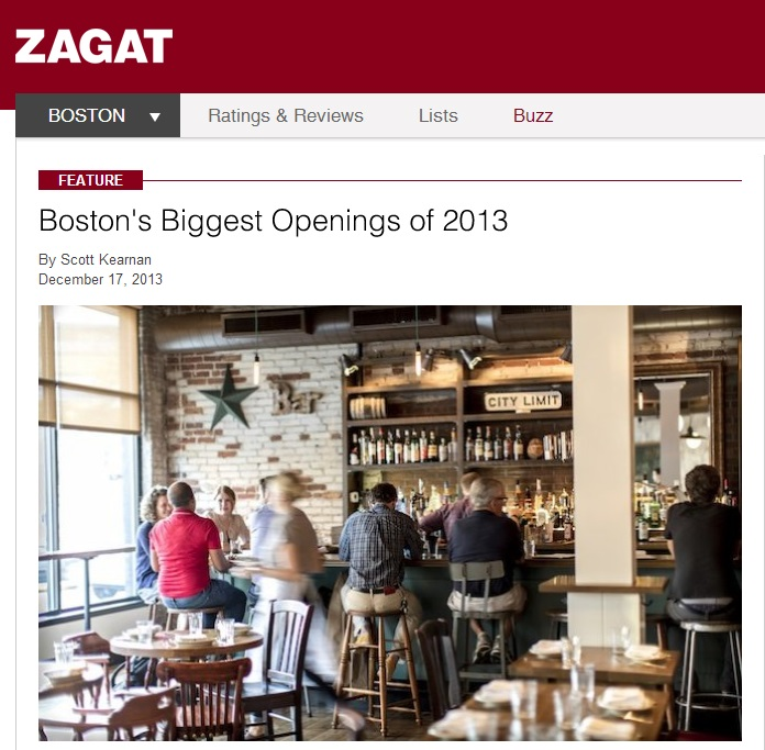 ZAGAT  Boston's Biggest Openings of 2013  By Scott Kearnan December 17, 2013