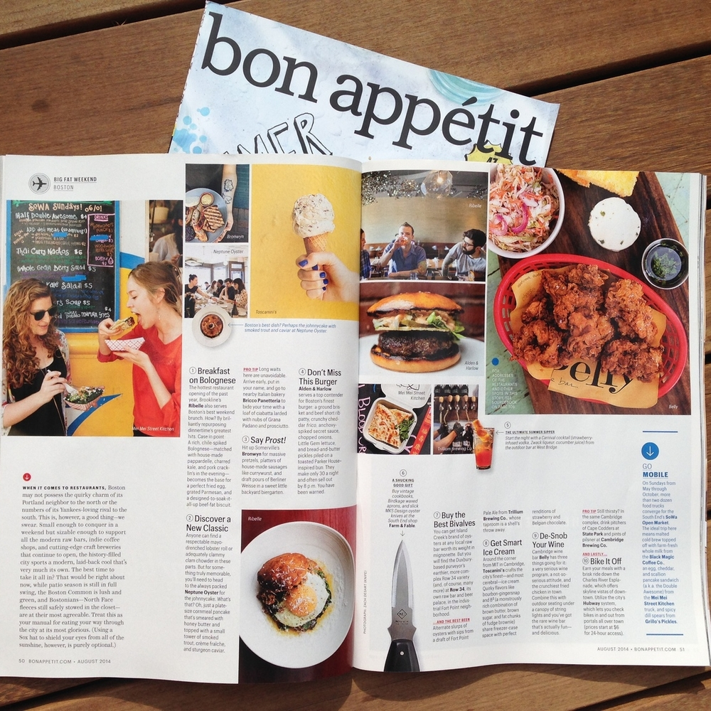 BON APPETIT  Where to Eat in Boston in One Big Fat Weekend  JULY 22, 2014 / WRITTEN BY LEAH MENNIES