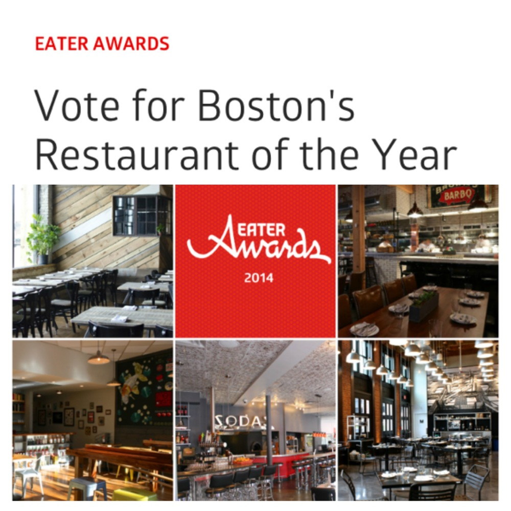 EATER BOSTON  The 2014 Eater Awards for Boston  November 17, 2014 / By Rachel Leah Blumenthal