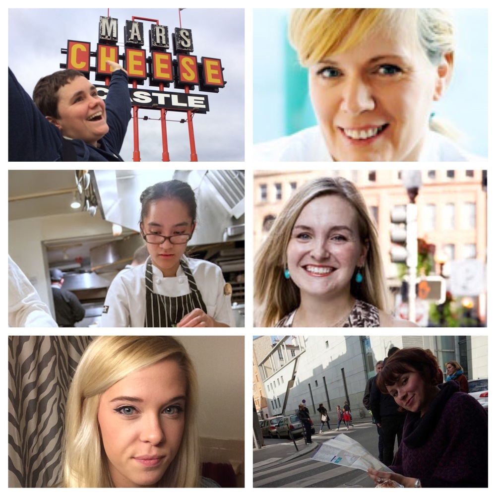 Clockwise from upper left: organizer Mary Kastman of Sarma,  Maura Kilpatrick of Sofra, Meg Thompson of Townsman, Liz Barwick of Sarma, Emily Klug of Sarma, Lindsey Barcebal of Oleana.