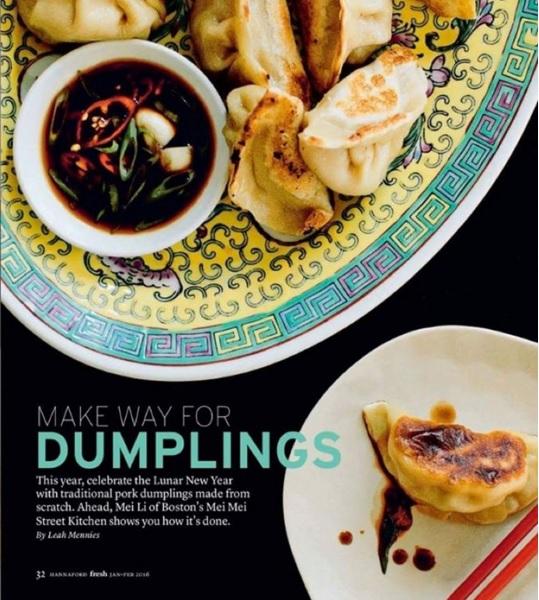 FRESH MAGAZINE Make Way for Dumplings / Leah Mennies / Jan-Feb 2016
