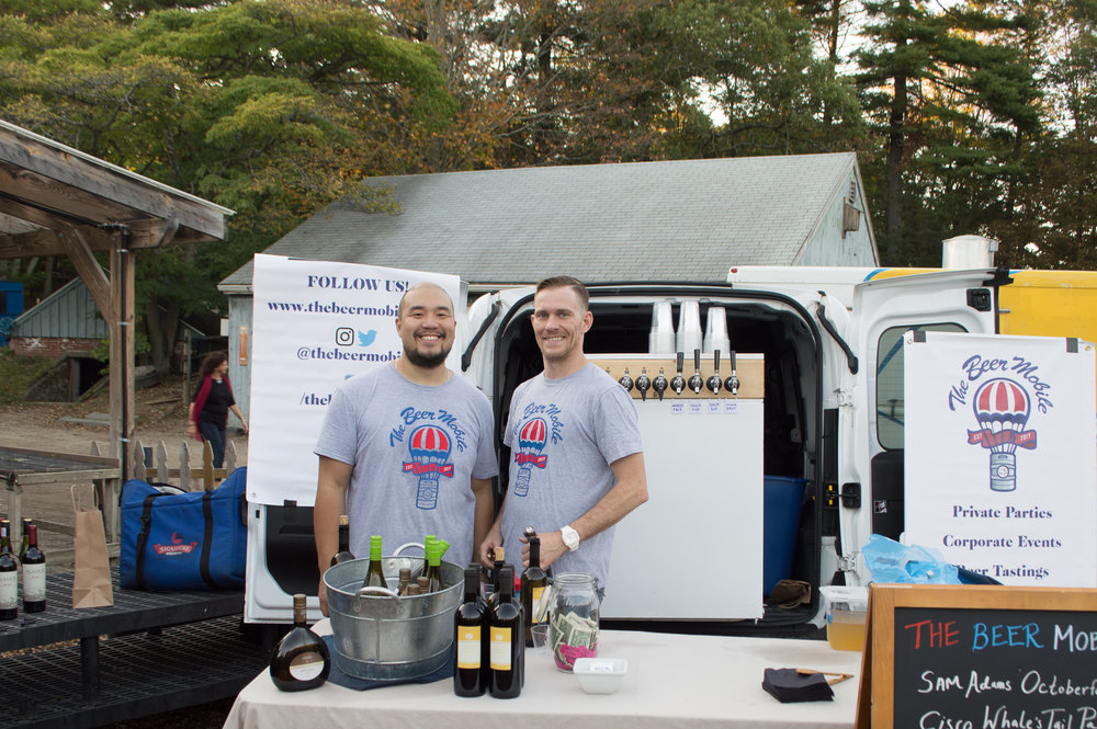 the beer mobile bar catering with craft beer on tap