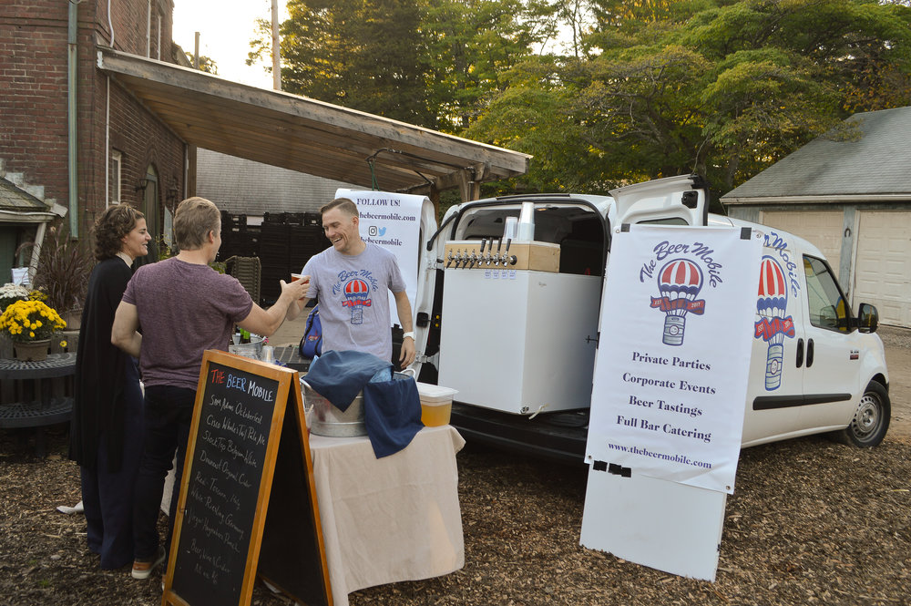 craft beer on tap with the beer mobile