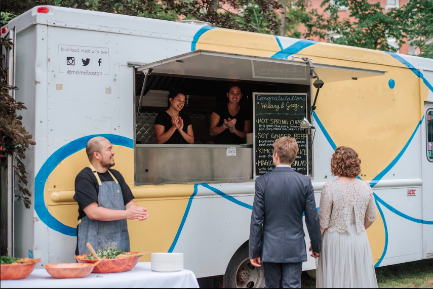 The Mei Mei truck serving up some joy at a wedding!