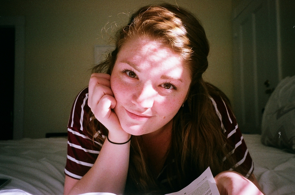 Kodak Porta 400. Developed and scanned  by my local camera store. A beautiful shot of my girlfriend  Candace .