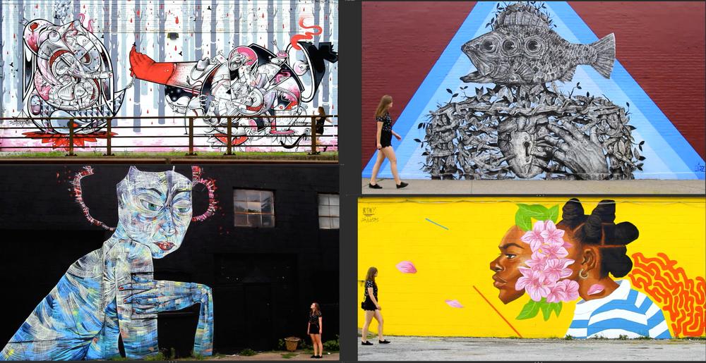 http://www.wall-therapy.com/  Works by: HOWNOSM (2012), Adam Francey (2013), Sam Rodriguez (2014), Alexis Diaz (2014), Brittany Williams (2015), Faring Purth (2014), Vexta (2015), Eder Muniz(2015)