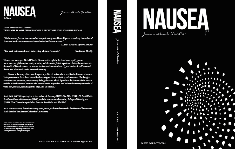 Nausea  by Jean-Paul Sartre, Sample book cover