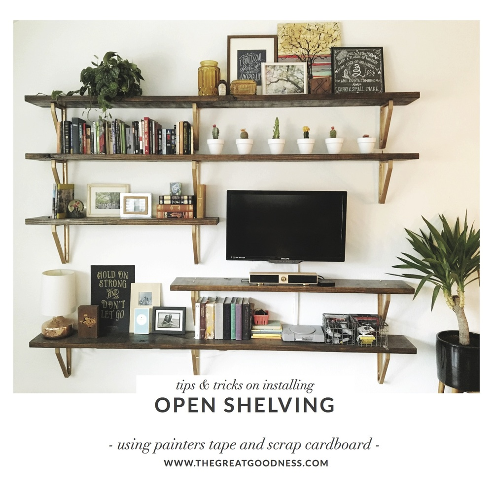 Open Shelving Tips and Tricks www.thegreatgoodness.com