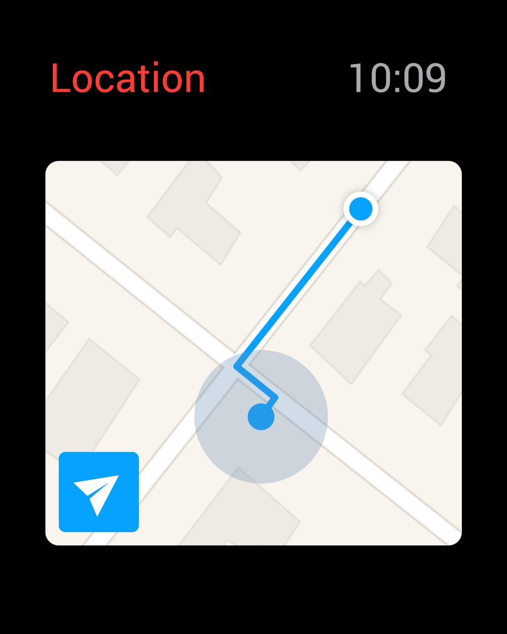 map on assistance ETA