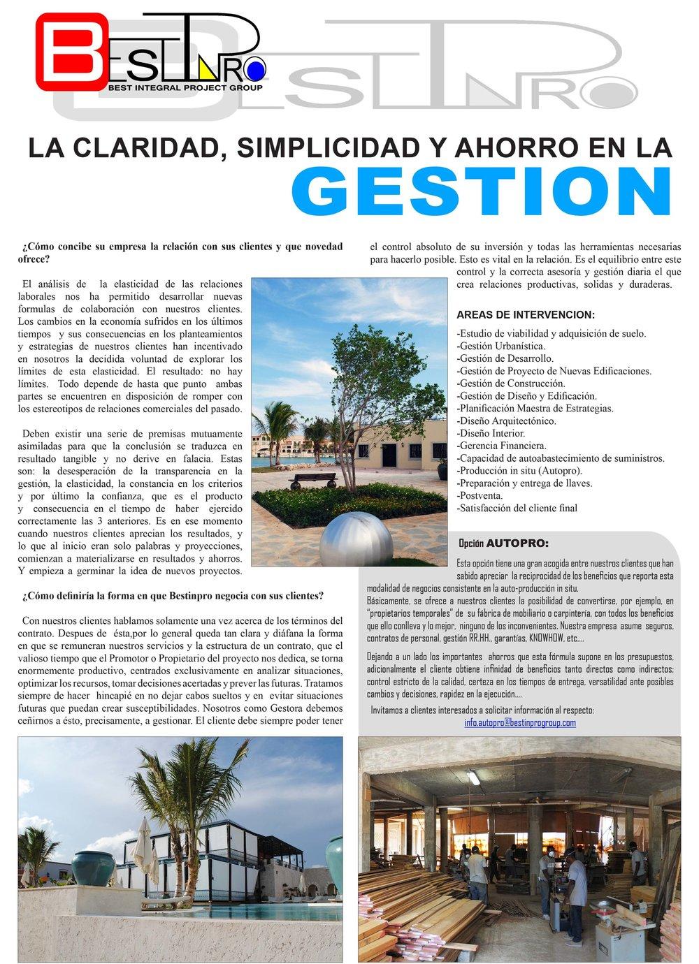 Septiembre 2011 – El Mercantil / Introducción a BESTINPRO en revista EL MERCANTIL por Sergio Hdez. Genoves