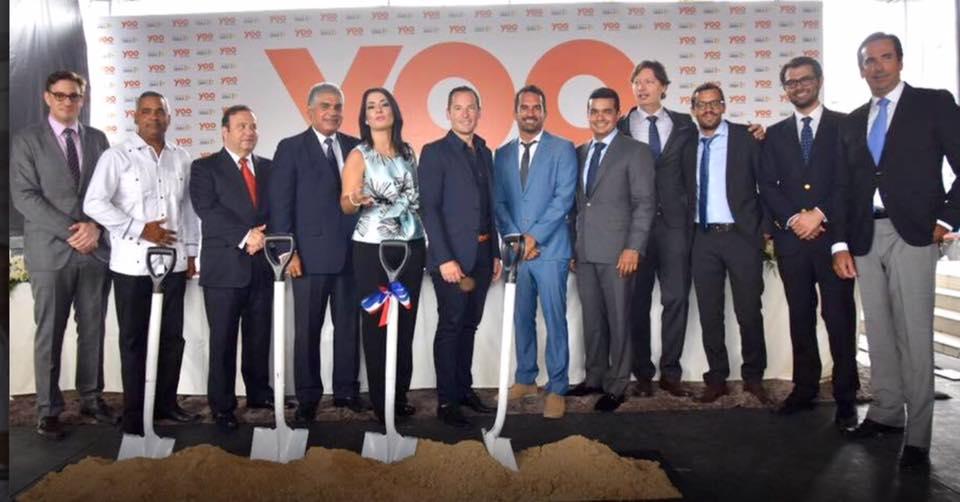 Yoo Santo Domingo Grupo Zagalo, da el primer picazo de la majestuosa construccion del proyecto de residencias hotelera Yoo santo domingo.