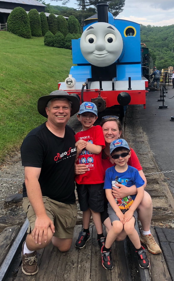 David, Christin, Benjamin, and Jonathan - Summer 2018