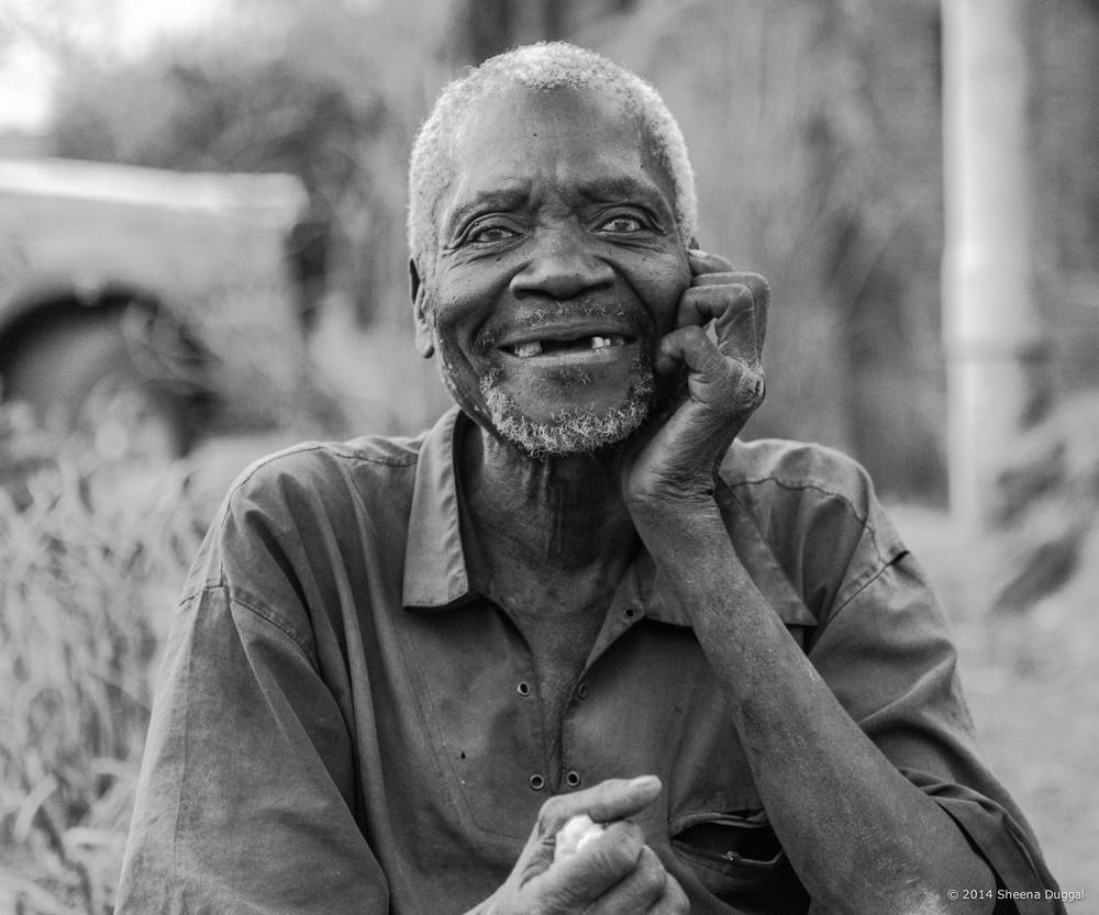 Old man Mchinji village Malawi