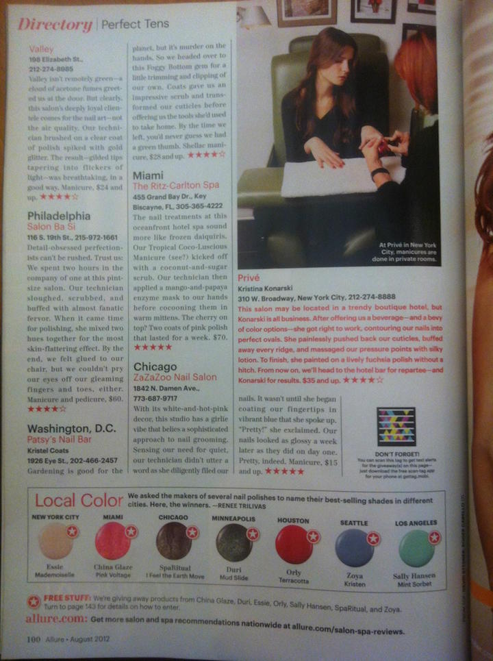 Allure Magazine June 2012