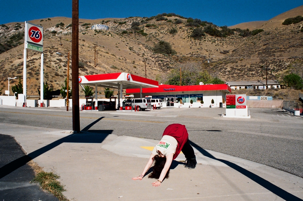 Downward dog Jenn, Palm Springs, California