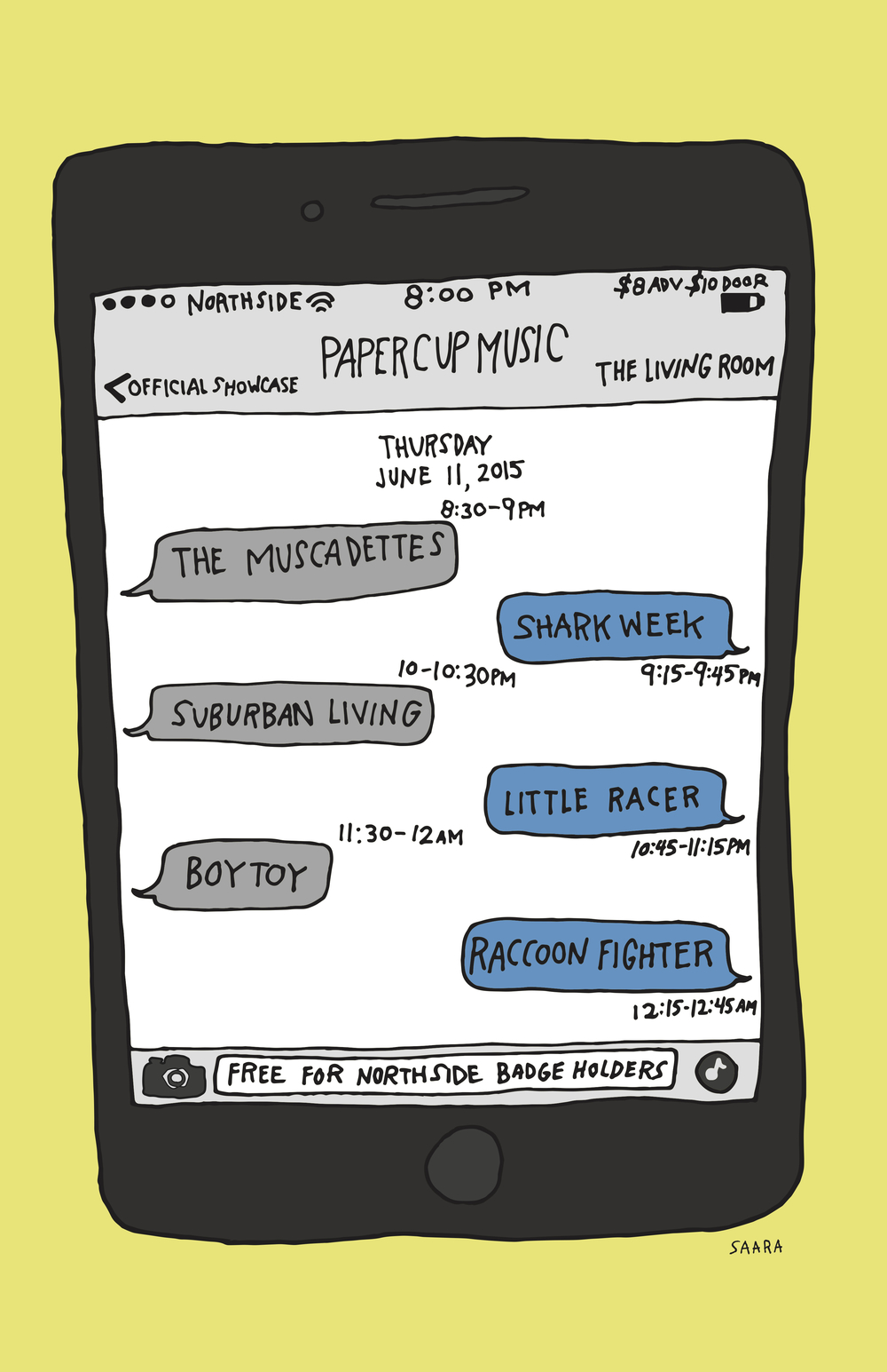 Northside Festival Poster for Papercup Music Showcase