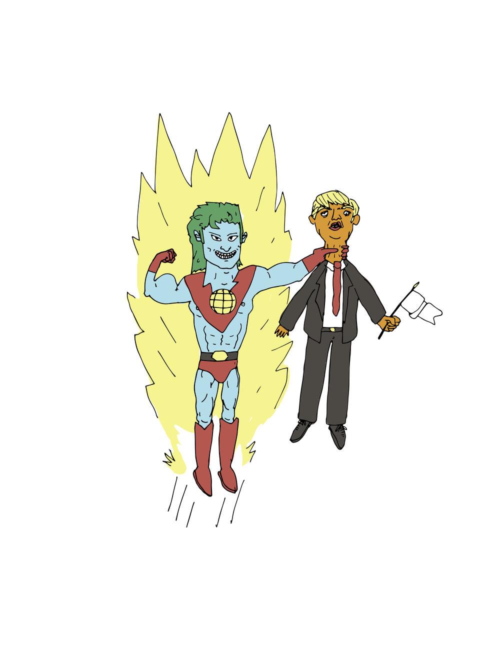 Captain Planet dumps Trump