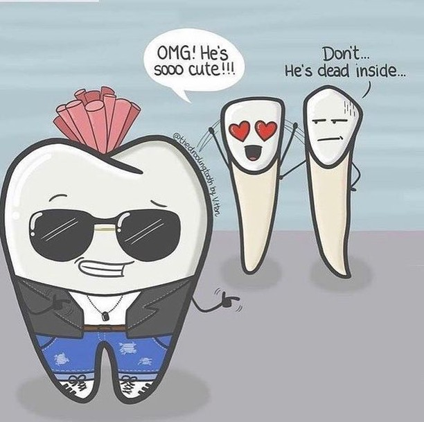 Well that got to the …root… of the problem. 😏 #happyvalentinesday #mondayfunday #dentalhumor