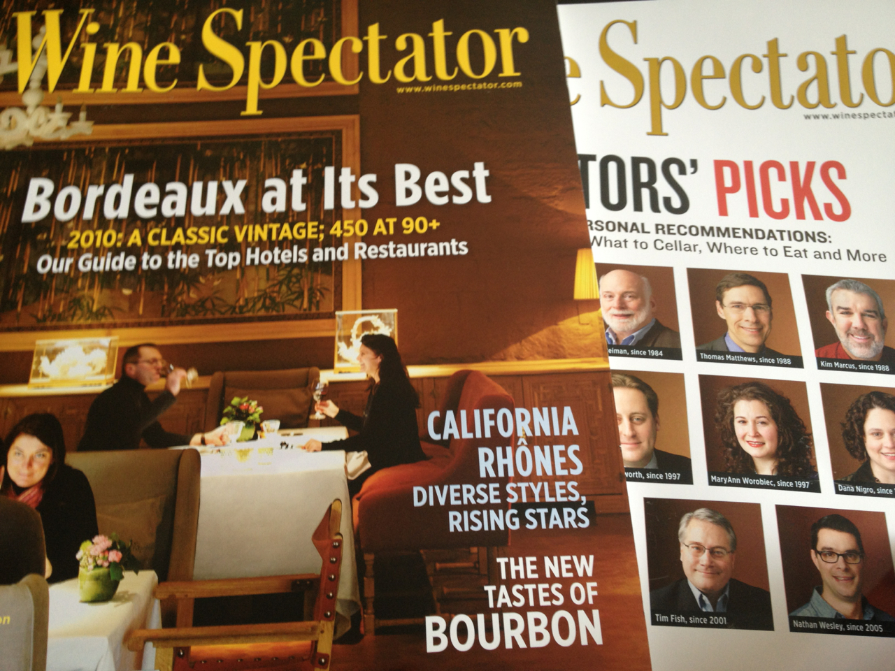 So excited for the latest Wine Spectator on the 2010 Bordeaux vintage. It's one of my favorite regions. Time to pick out some wines to cellar.