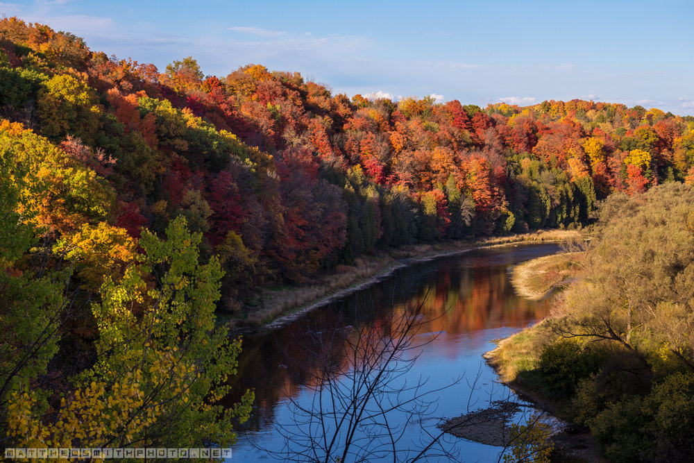 Autumn's colour spectrum is on full display on a mid-October afternoon along the Grand River in south Kitchener.