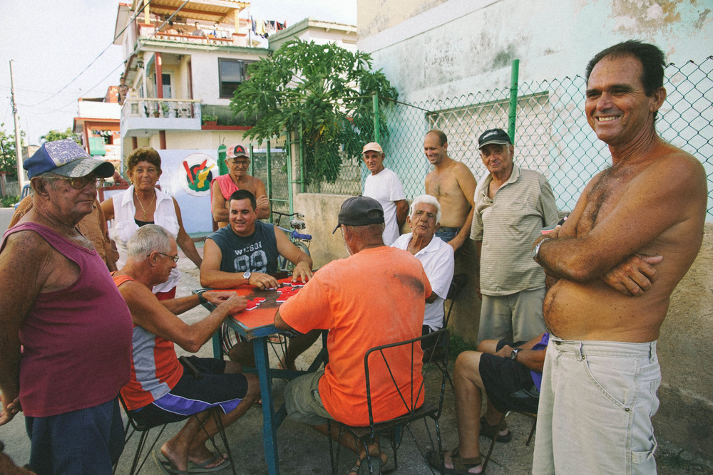 After baseball, it was apparent that the country's national sport was dominoes, played most notably in the streets, where everyone gets an invite.