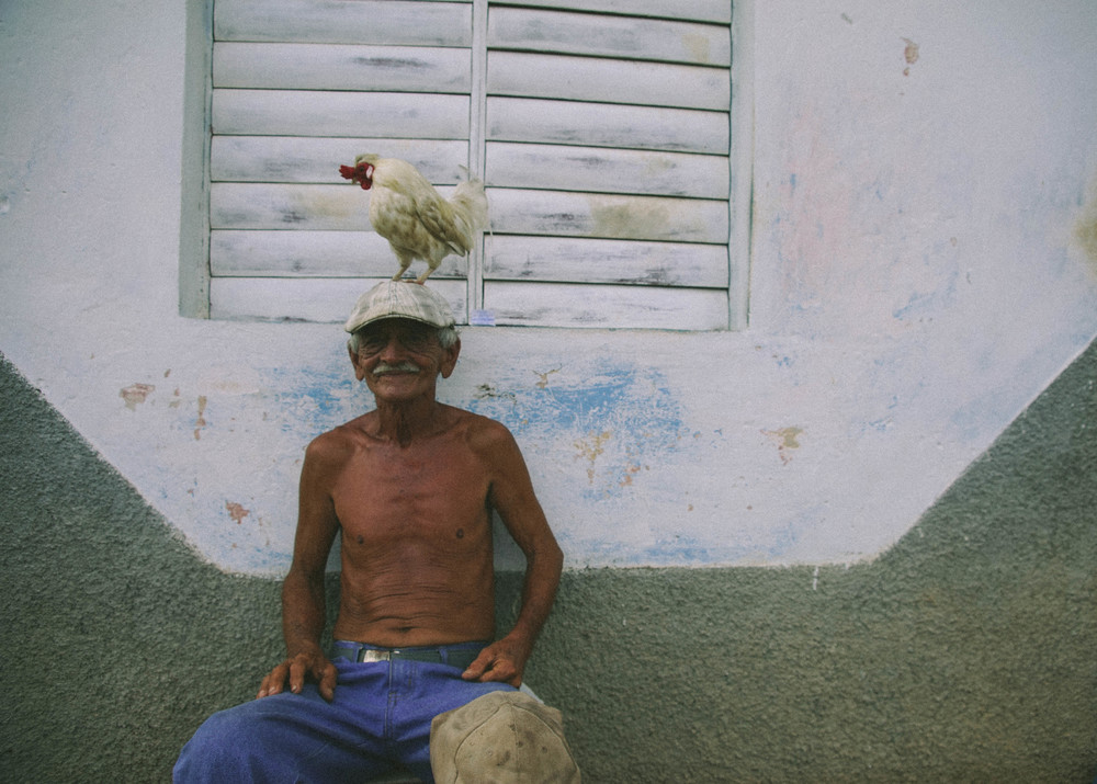 Jorge the farmer, and also the happiest man in Trinidad.