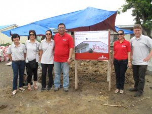 During the groundbreaking at San Jose Elementary School in Tacloban City