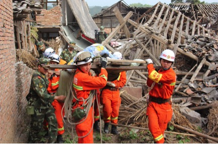 Photo taken during following the 2008 earthquake in Sichuan. Give2Asia was the 2nd largest international donor supporting relief and recovery efforts.
