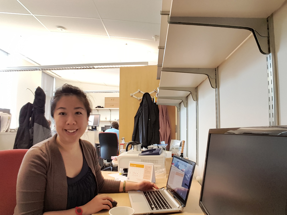 Josephine working remotely in Ann Arbor, Michigan
