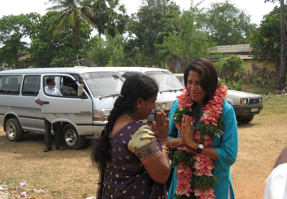 Field Advisor, Sharadha de Saram, greeted at Sarvodaya Children's Resource Centre