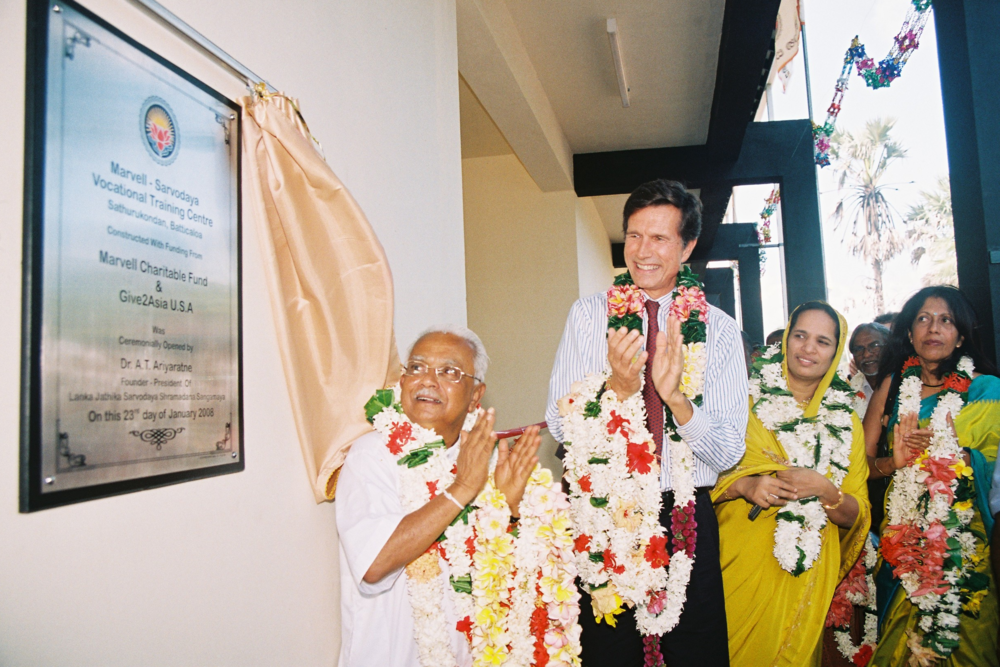 Sharadha at the opening of Marvell Sarvodaya Vocational Training Centre