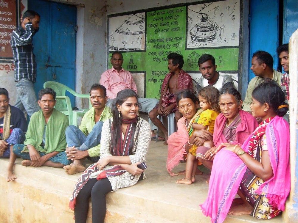 Saveetha visiting the Gond Community of Kalahandi District, Orissa