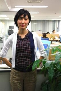 Yoshiko in the JNPOC office in Otemchi, Tokyo