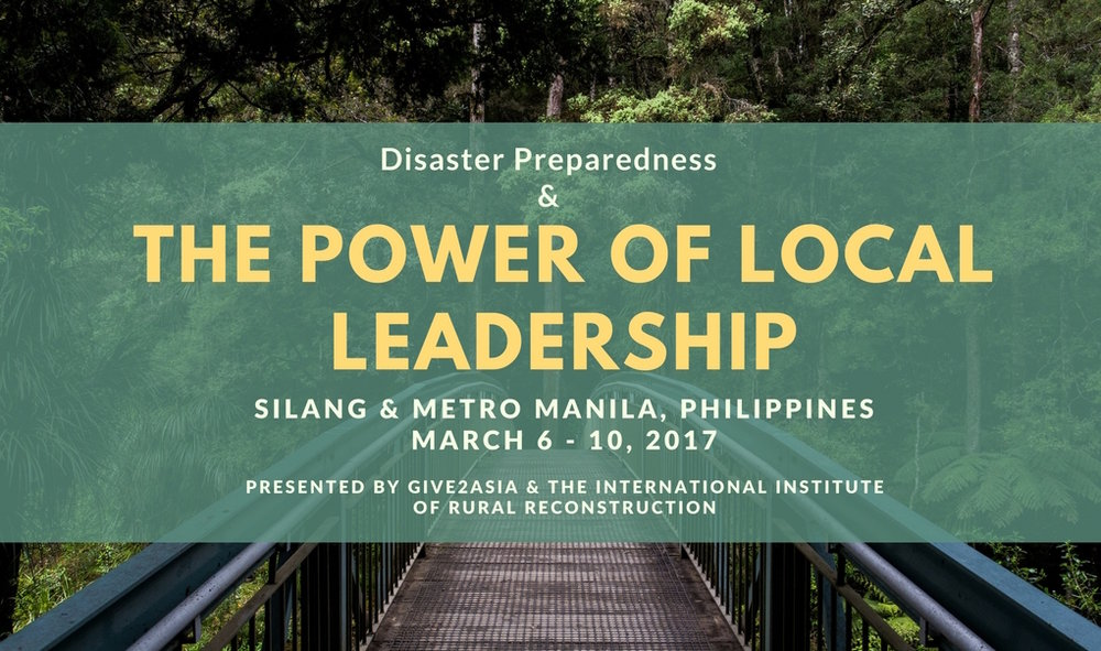 Disaster preparedness requires leadership at all levels. In Asia, the most natural disaster-prone area in the world, local communities have demonstrated formidable leadership and resilience to the ravaging disasters in the past decade. In March 2017, leaders from over 50 organizations on the front lines of disaster work as well as leadership from the global philanthropic community convened in the Philippines to collaborate, identify new opportunities, and increase innovation in disaster preparedness. Forums took place in the Y.C. James Yen Center, Silang and the Asian Institute of Management (AIM), Manila between March 6 and 10.
