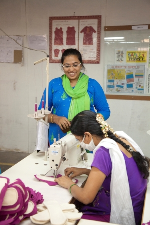 Kamarunnisa worked as a tailor with a big garment manufacturer for 10 years before joining Industree. She is now the training lead at Ektha Apparel