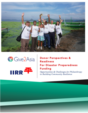Donor Perspectives & Readiness For Disaster Preparedness Funding:  Opportunities & Challenges for Philanthropy in Building Community Resilience