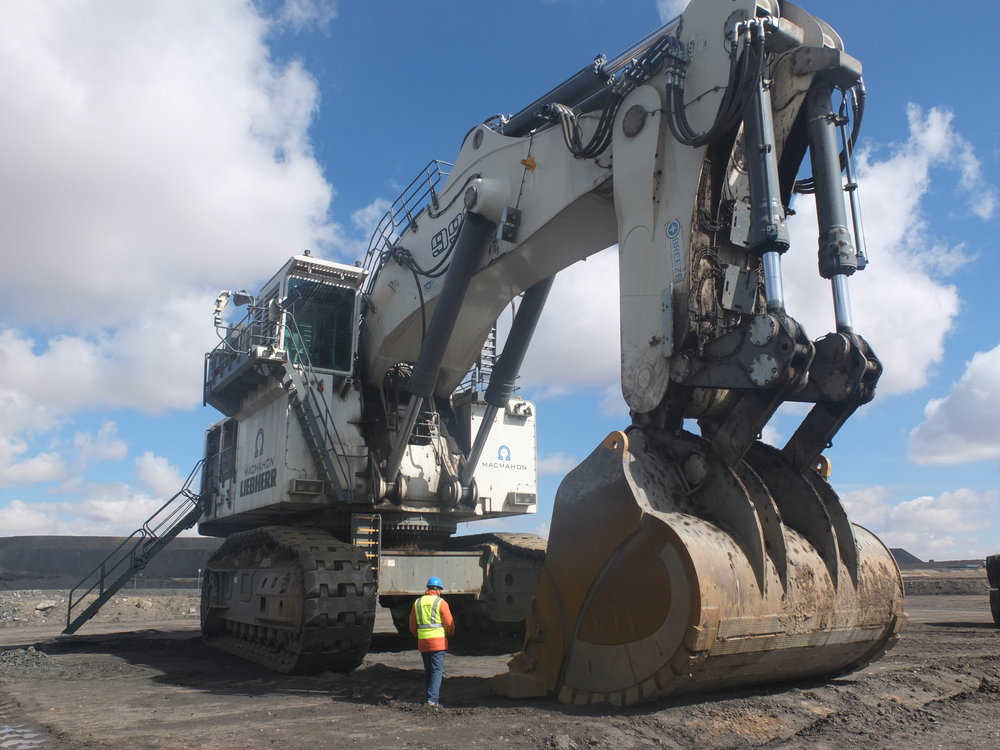 Mining excavator at the Tavan Tolgoi mine, one of the largest coal mines in the world, 2018