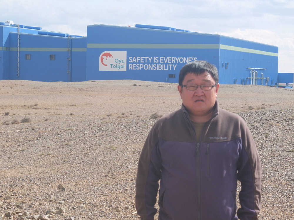 Batbold at the Oyu Tolgoi mine, one of the largest copper and gold mines in the world, 2018