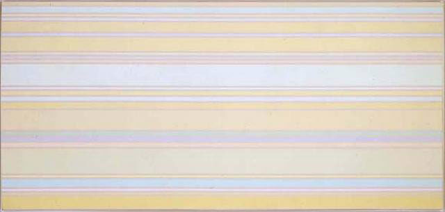 Kenneth Noland, Via Light 1968, acrylic on canvas, 54 x 113 inches, Courtesy of Lelie Feely Fine Art