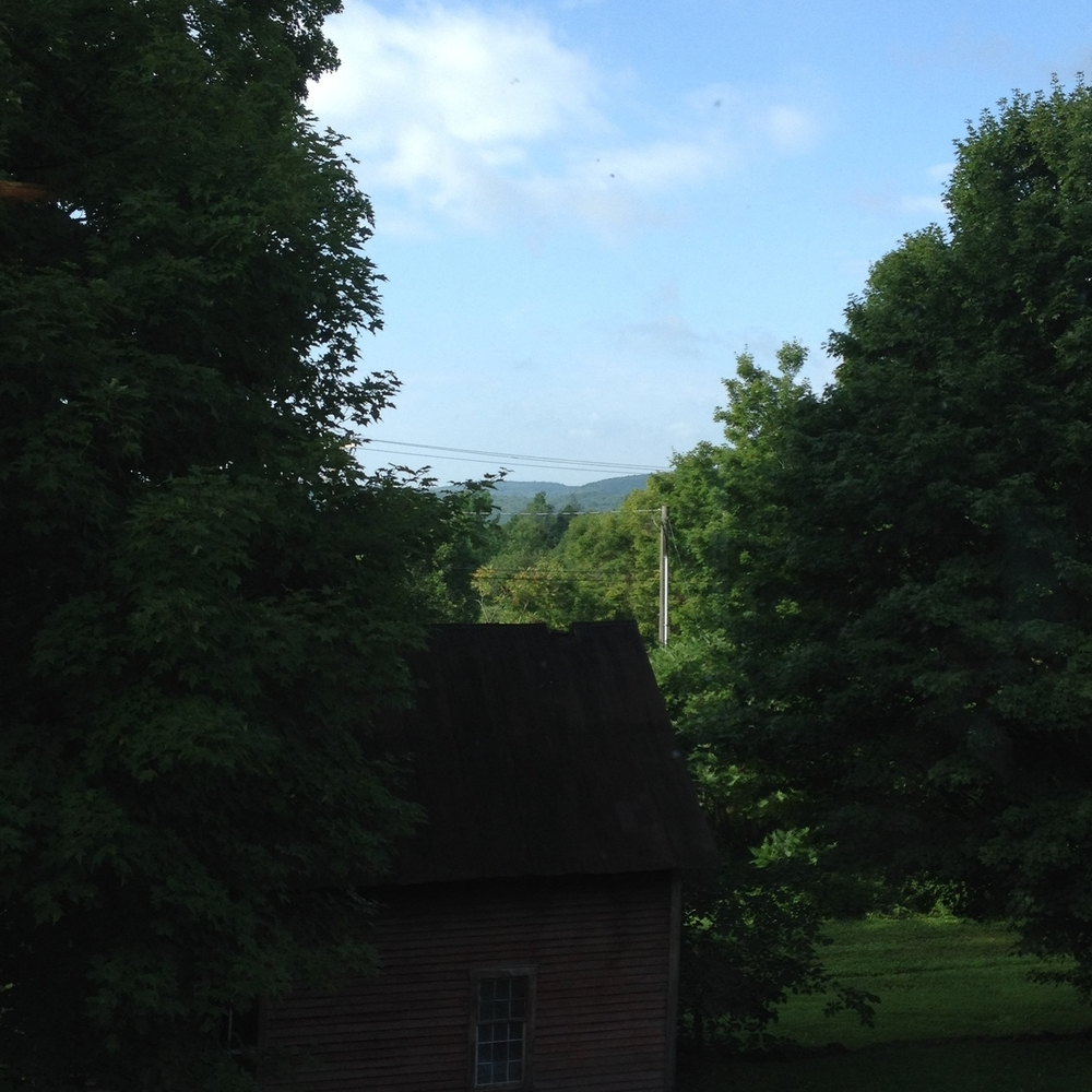 One of my favorite views from Spirit Fire Meditative Retreat Center in Leyden, MA