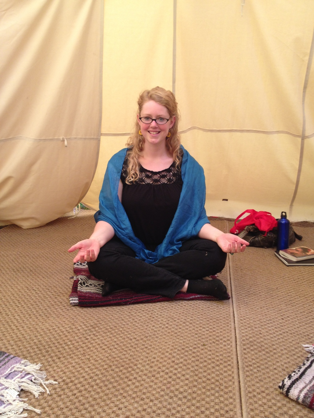 Channeling my inner goddess at my moon circle!
