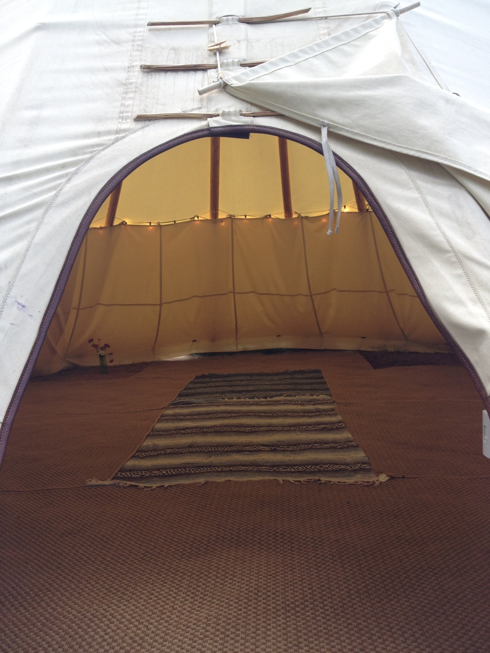 My moon circle this month, lead by Meredith Edwards, was in The Tipi Project in Williamsburg.