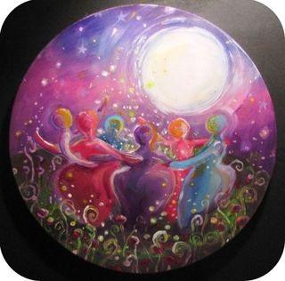* Goddess Circle  painting by Molly Roberts