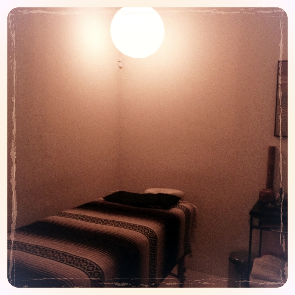 Healing treatment room at Maha Rose Center for Healing in Greenpoint, Brooklyn.