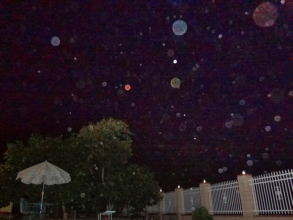 ORB SWARM DURING SUPERMOON   10/10/2015 — Redlands, California